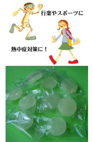 熱中症予防対策すだち岩塩キャンディー成分表