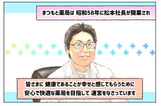 街ログ内の松本社長の似顔絵